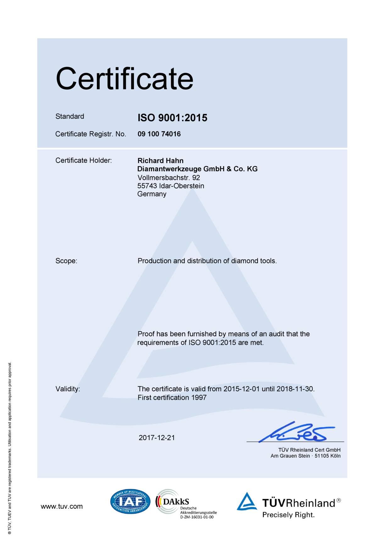Download certification english